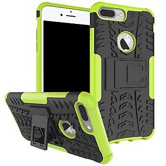 NEX stil hybrid fall 2 stycke utomhus Grün för Apple iPhone 8 plus och 7 plus 5,5 tums fall ärm cover skydd