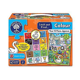 Orchard Toys titta och hitta färg pussel - 2 i en box