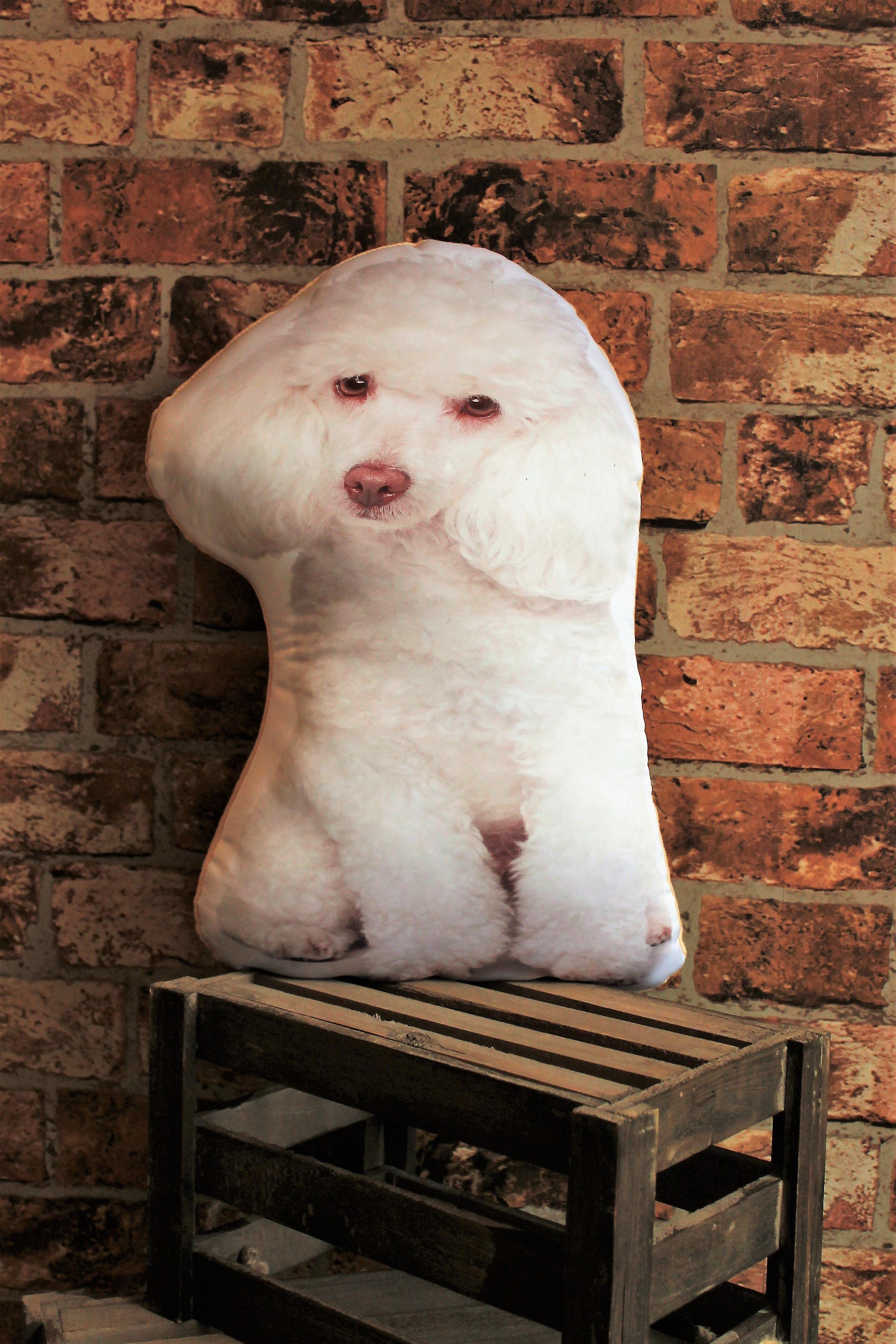 Adorable white poodle shaped cushion
