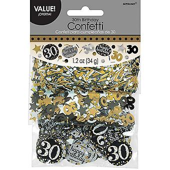 Amscan 1.2oz Gold Sparkling 30th Birthday Confetti