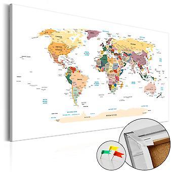 Afbeelding op kurk - World Map [Cork Map]