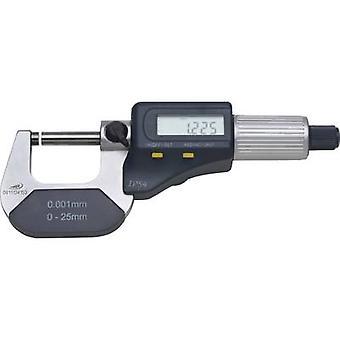 HELIOS PREISSER 0912501 Micrómetro + LCD 0 - 25 mm Lectura: 0.001 mm DIN 863-1