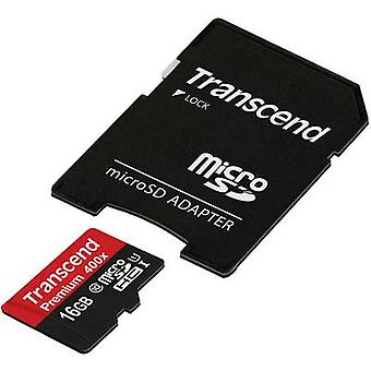 Transcend Premium 400x microSDHC card 16 GB Class 10, UHS-I incl. SD adapter