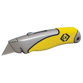 C.K Trimming Knife Soft Grip Retracting C.K. T0957-1