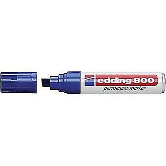 Edding Edding 800 علامة دائمة 800 عرض الخط 4 - 12 ملم تلميح شكل إسفين على شكل الأزرق
