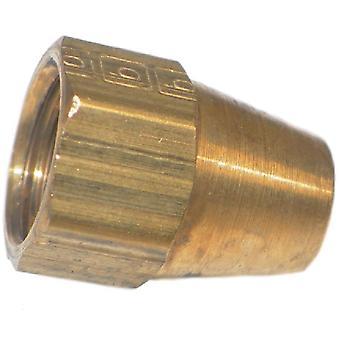 Big A Service Line 3-14103 Brass Long Nut Fitting 3/16