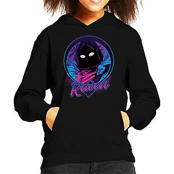 Raven Portrait Fortnite Kid's Hooded Sweatshirt