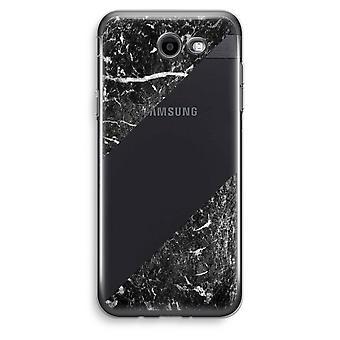 Samsung Galaxy J3 Prime (2017) przezroczysty (Soft) - czarny marmur