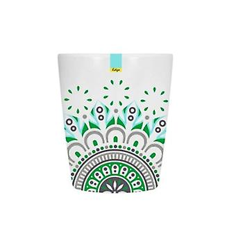 Green Patterned Melamine Abstract Summer - Tumbler 70 x 84mm Camping Kitchen