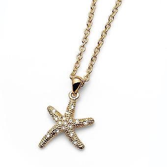 Oliver Weber Pendant Starfish 2 Small Rhodium Crystal