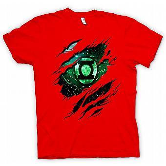 Herr T-shirt - gröna lyktan - superhjälte slet Design