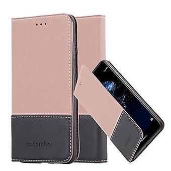 Cadorabo sag for Huawei P10 LITE sag dække - telefon sag med magnetisk lås, stå funktion og kortrum - Sag Cover Beskyttende case sag bog Foldestil