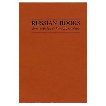 Livres russes du Catalogue avant 1920 de la bodléienne