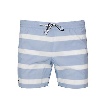 Lacoste Blue & White Swim Short