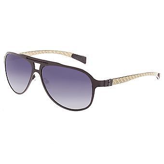 Breed Apollo Titanium and Carbon Fiber Polarized Sunglasses - Brown/Black