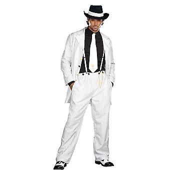 White Gangster Suit Adult