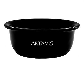 Artamis Black Ceramic Shaving Bowl