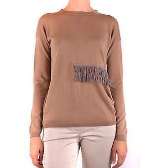 Fabiana Filippi Ezbc055035 Women's Suéter de Algodão Marrom