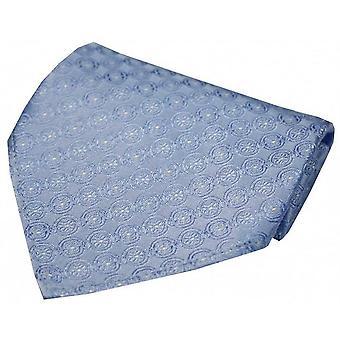David Van Hagen Circular Chain Silk Handkerchief - Sky Blue
