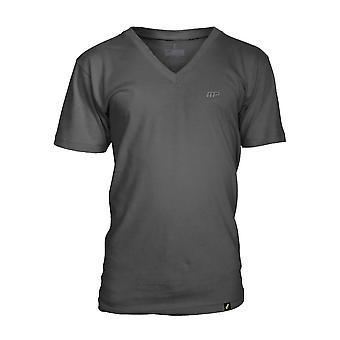 MusclePharm Mens MP Embroidered V-Neck T-Shirt - Gray