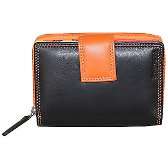 Rallegra Multifold Wallet - Black/Orange/Red