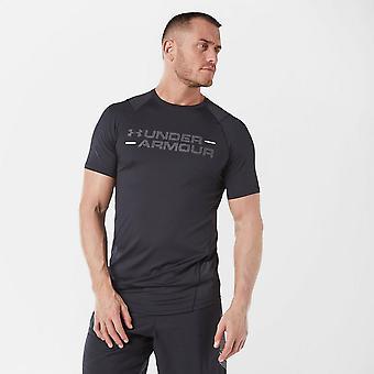 Ny under Armour menns MK-1 wordmark kort ermet T-skjorte svart