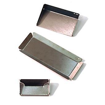 Memo - organizador de escritório de aço inoxidável conjunto / Pen bandeja / cartão titular - prata