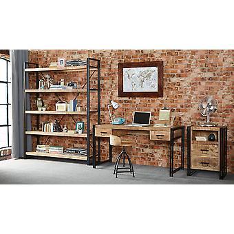 メゾン工業金属・木材の大きなオープン本棚