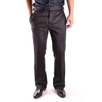 John Galliano Ezbc189022 Men's Black Cotton Pants