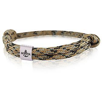 Skipper Armband Charm Knot Maritieme Armband Roestvrij Staal Bruin/Zwart/Grijs 7989