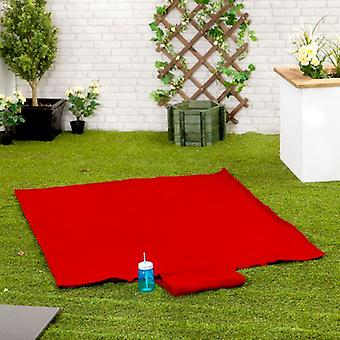Gardenista® Red Water Resistant Roll Up Picnic Mat with Carry Handle