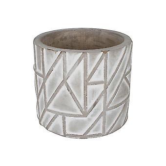 Concrete Pot 14 X 14 X 10.5 Cm Abstract Polygon Shape