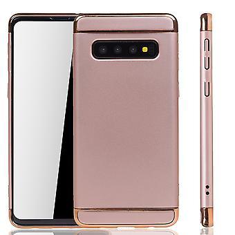 Samsung Galaxy S10 téléphone étui protection étui pare-chocs couverture rigide rose