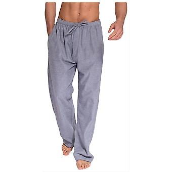 British Boxers Ash Herringbone Two Fold Flannel Pyjama Trousers - Grey