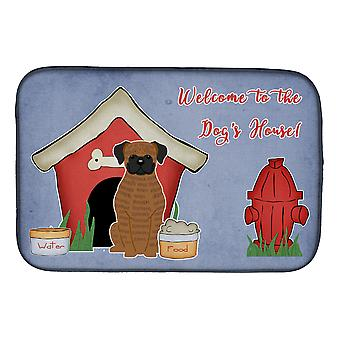 Dog House Collection Brindle Boxer Dish Drying Mat