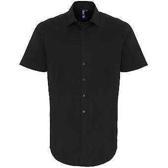 Chemise à manches courtes Premier Mens Stretch Fit Cotton Poplin