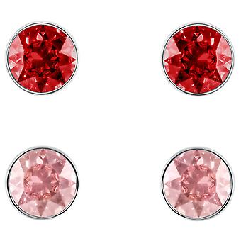 Swarovski Madyson Pierced Earring Set - Red - Rose-Gold Tone Plated - 5414601