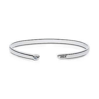 Rice University Diamond Manchet armband in Sterling Zilver ontwerp door BIXLER