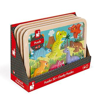 Janod Dinosaurs Chunky Wooden Puzzle