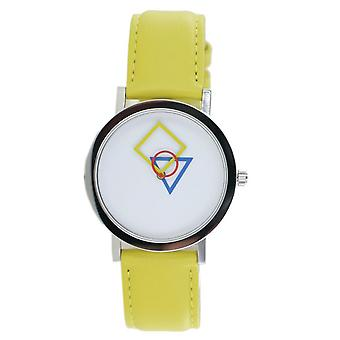Aristo Bauhaus ladies watch stainless steel 4D85G leather yellow
