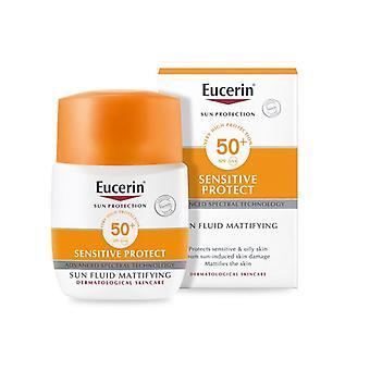 Eucerin zon vloeistof Mattifying vloeistof SPF50 + 50ml