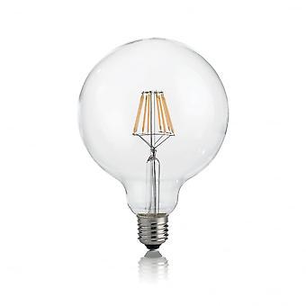 Ideal Lux Light Bulb Classic E27 8W Globo D125 Transparent 4000K