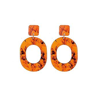 Jewelcity Sunkissed Womens/Ladies Tortoise Shell Oval Circle Earrings