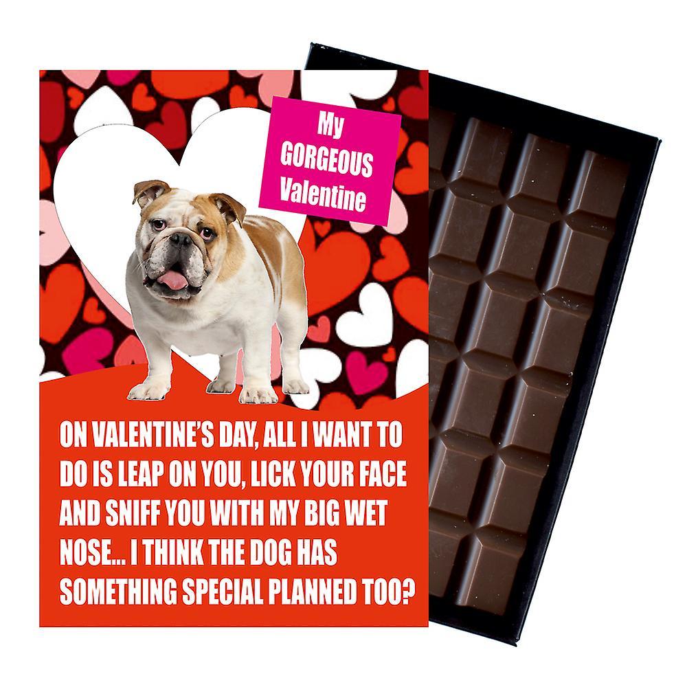 Novelty Chocolate Dog Lover Valentines Day Gift Black Labrador Greeting Card
