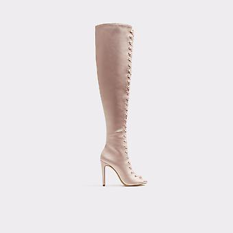 Aldo Womens Cherisse Satin Peep Toe Over Knee Fashion Boots