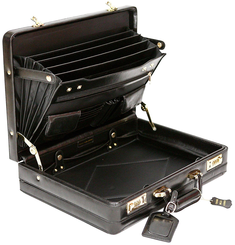 Luksus læder Executive sag Attache rejsetasken kan udvides hård Business taske