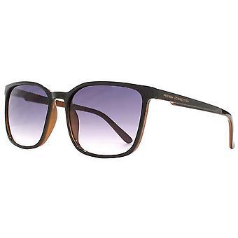 French Connection Slim Square Sunglasses - Black