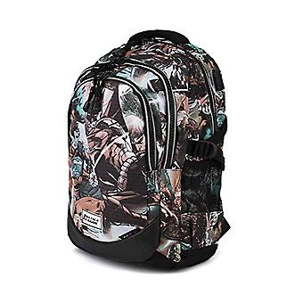 Justice League Comics-Running HS Rucksack Casual Backpack - 21 liters - Grey
