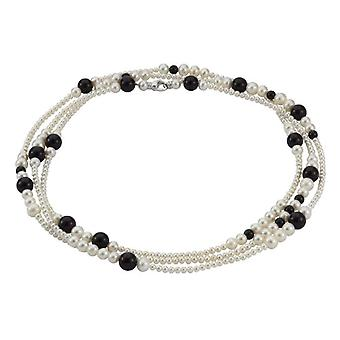 Adriana RE6 - Women's necklace with onyx - silver sterling 925 - 160 cm