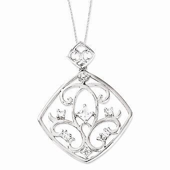 925 Sterling Zilver gepolijst Gift Boxed Spring Ring Rhodium verguld CZ Cubic Zirconia Gesimuleerde Diamond Joy Overloop 1